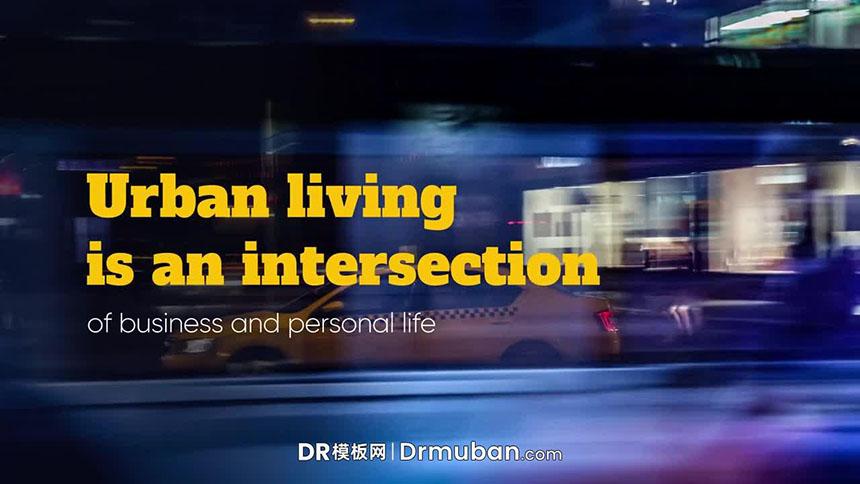 达芬奇幻灯片模板 现代企业宣传片促销广告DR模板下载