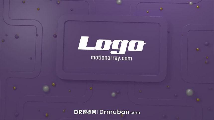 达芬奇免费开场模板 简单实用3D立体动态Logo展示DR模板下载