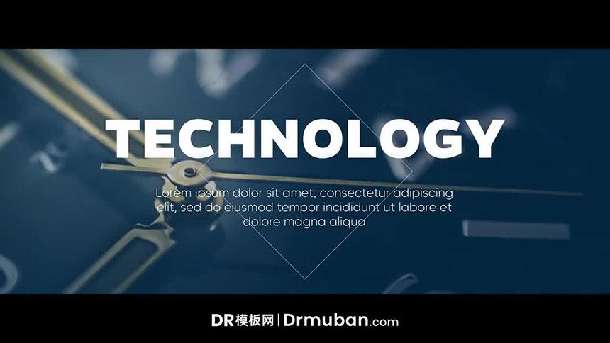 DR幻灯片模板 商务风企业会议公司活动达芬奇模板下载-DR模板网