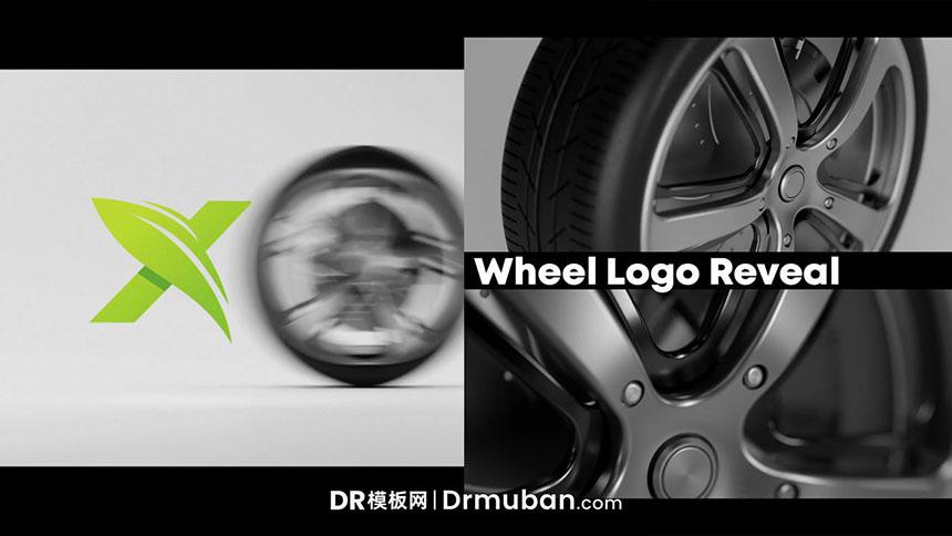 达芬奇片头模板 汽车3D车轮滚动动态logo展示DR视频模板下载