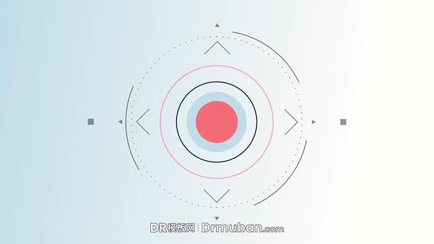 免费DR片头模板 动态图形演绎logo片头达芬奇模板下载