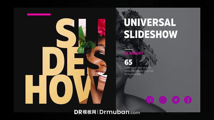 DR模板 图文并茂创意设计作品展示内容宣传视频达芬奇模板