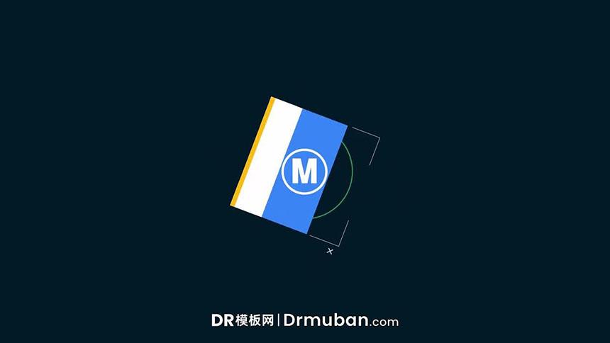 DR片头模板 简约动态图形演绎logo动画达芬奇片头模板
