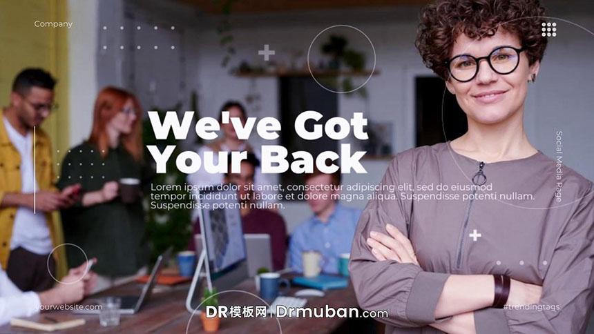 DR模板 公司企业宣传视频幻灯片图文展示达芬奇模板