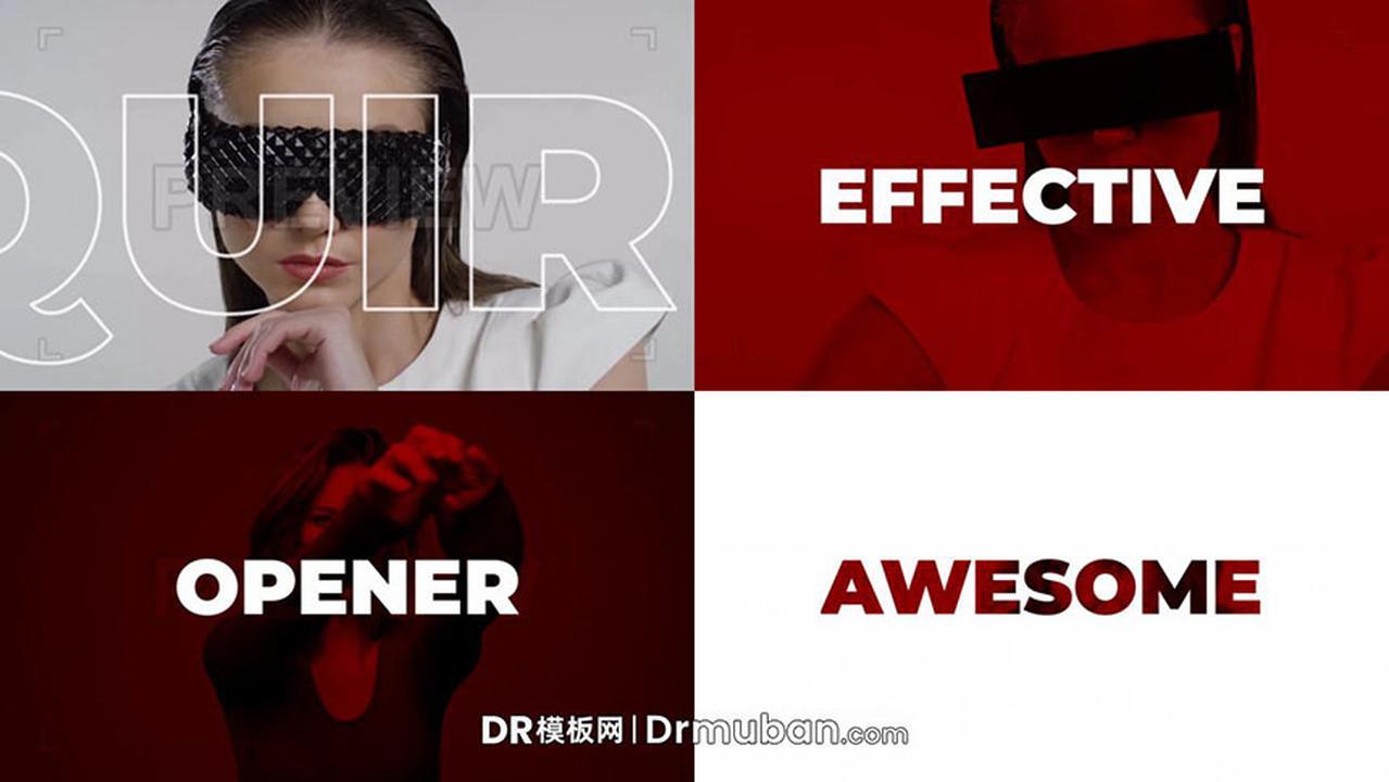 DR模板 影棚拍摄幕后花絮时尚主播模特网红宣传视频达芬奇模板