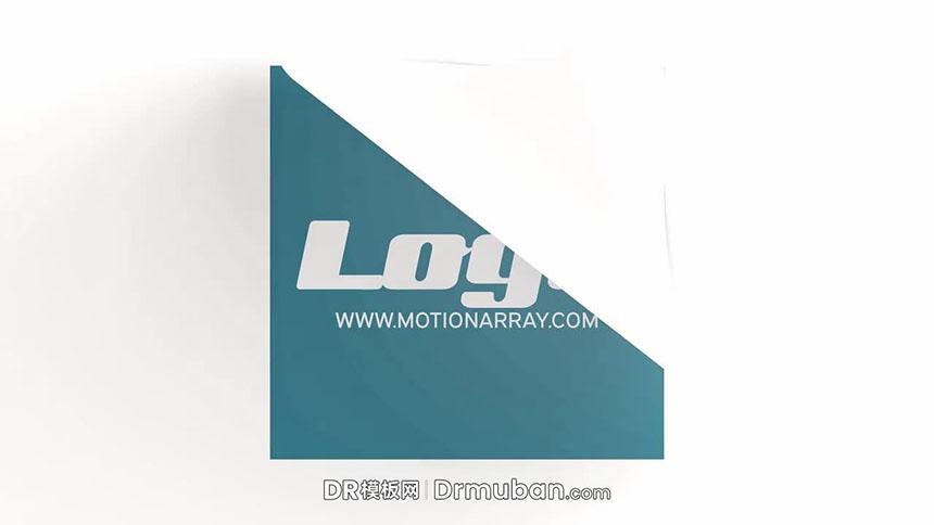 达芬奇片头模板 揭纸/纸片飞起logo展示DR片头模板免费下载