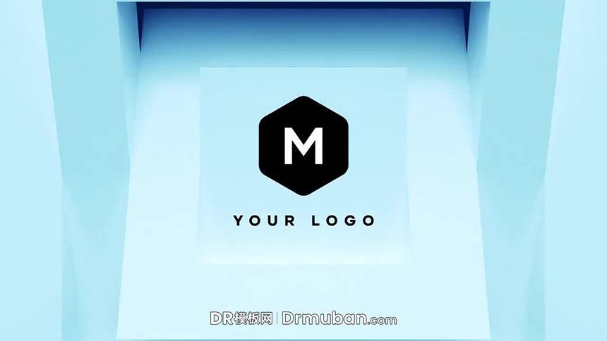达芬奇模板 3D立方体旋转logo展示DR模板免费下载