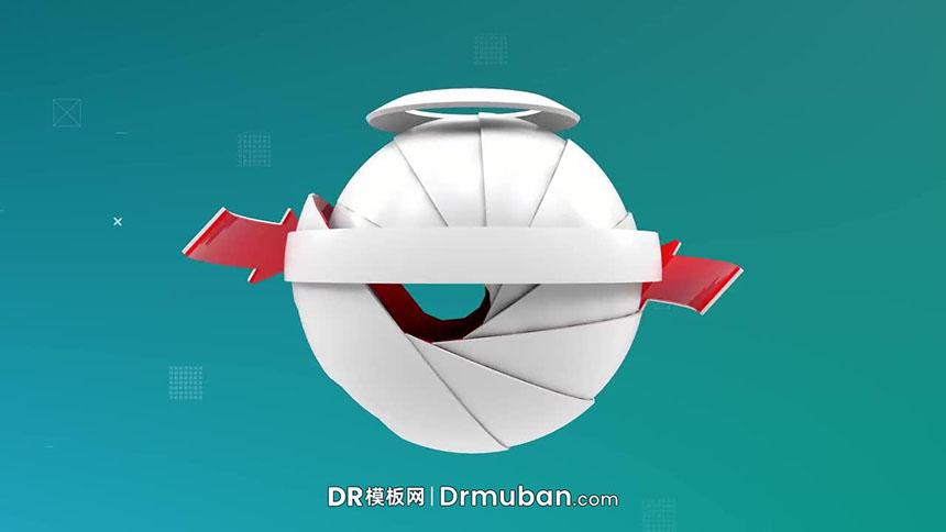 达芬奇模板 科技感球体旋转效果logo展示DR模板免费下载