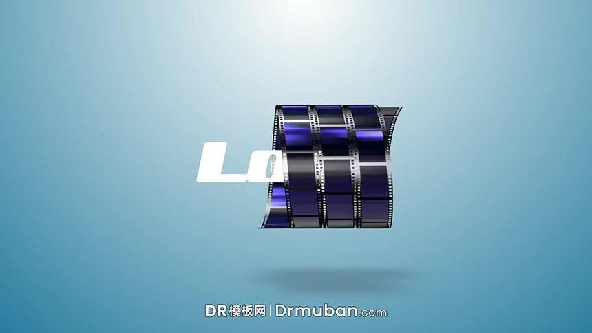 DR片头片尾模板 复古创意胶卷动态logo展示DR模板下载-DR模板网
