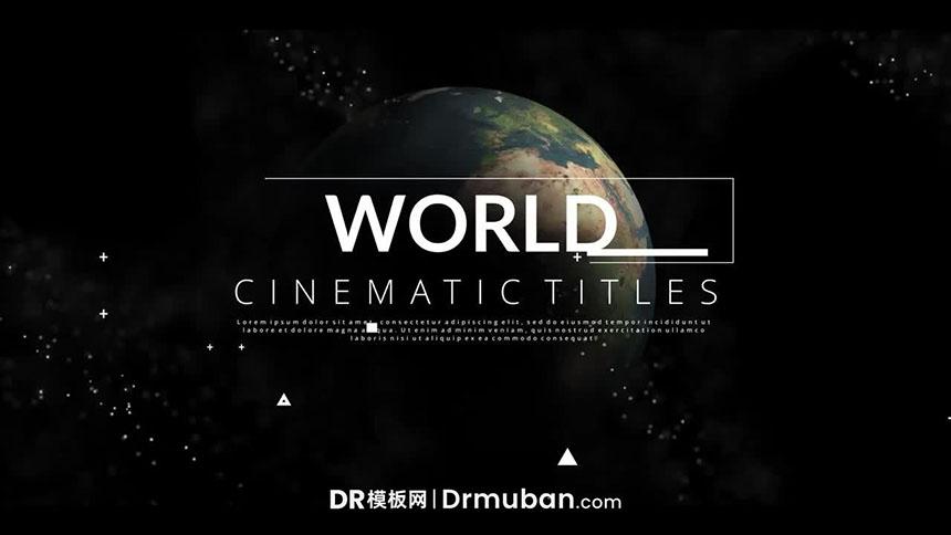 达芬奇模板 电影级动态标题文字动画达芬奇DR模板