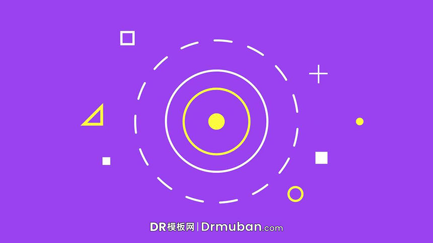 达芬奇片头模板 扁平化动态图形设计LOGO展示达芬奇DR模板