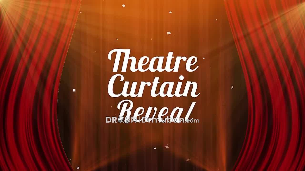 达芬奇片头模板 剧院幕布开场视频动态logo展示DR模板下载-DR模板网