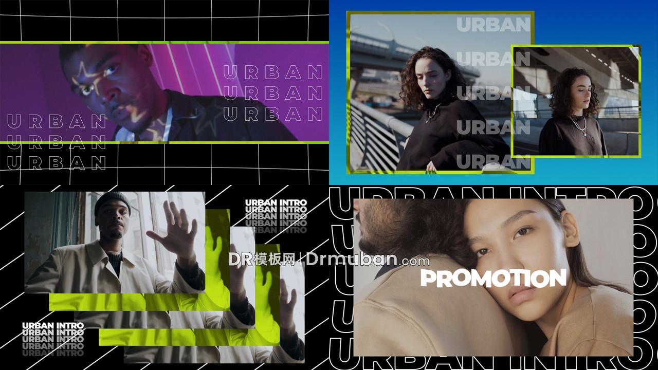 达芬奇模板 时尚炫酷短视频宣传开场视频DR模板下载