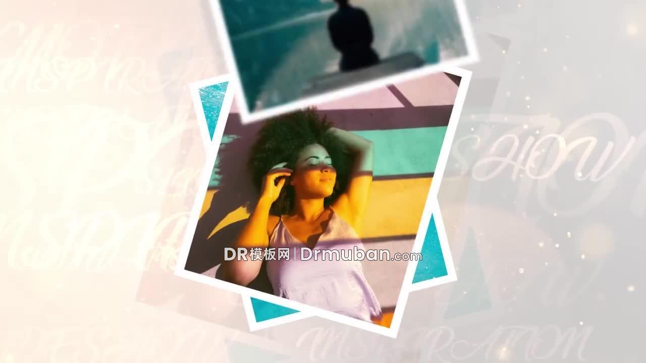 达芬奇电子相册模板 快节奏照片展示开场视频DR模板-DR模板网
