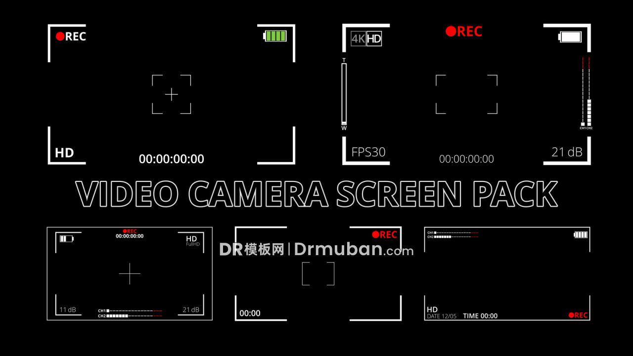 达芬奇模板 摄像机屏幕显示屏短视频特效DR模板
