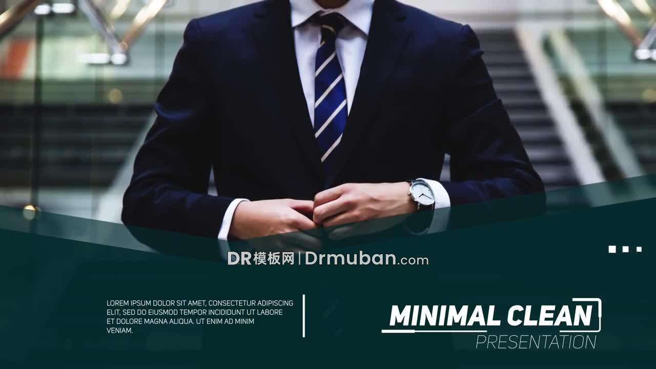 达芬奇模板 高端大气商业宣传活动促销DR模板下载