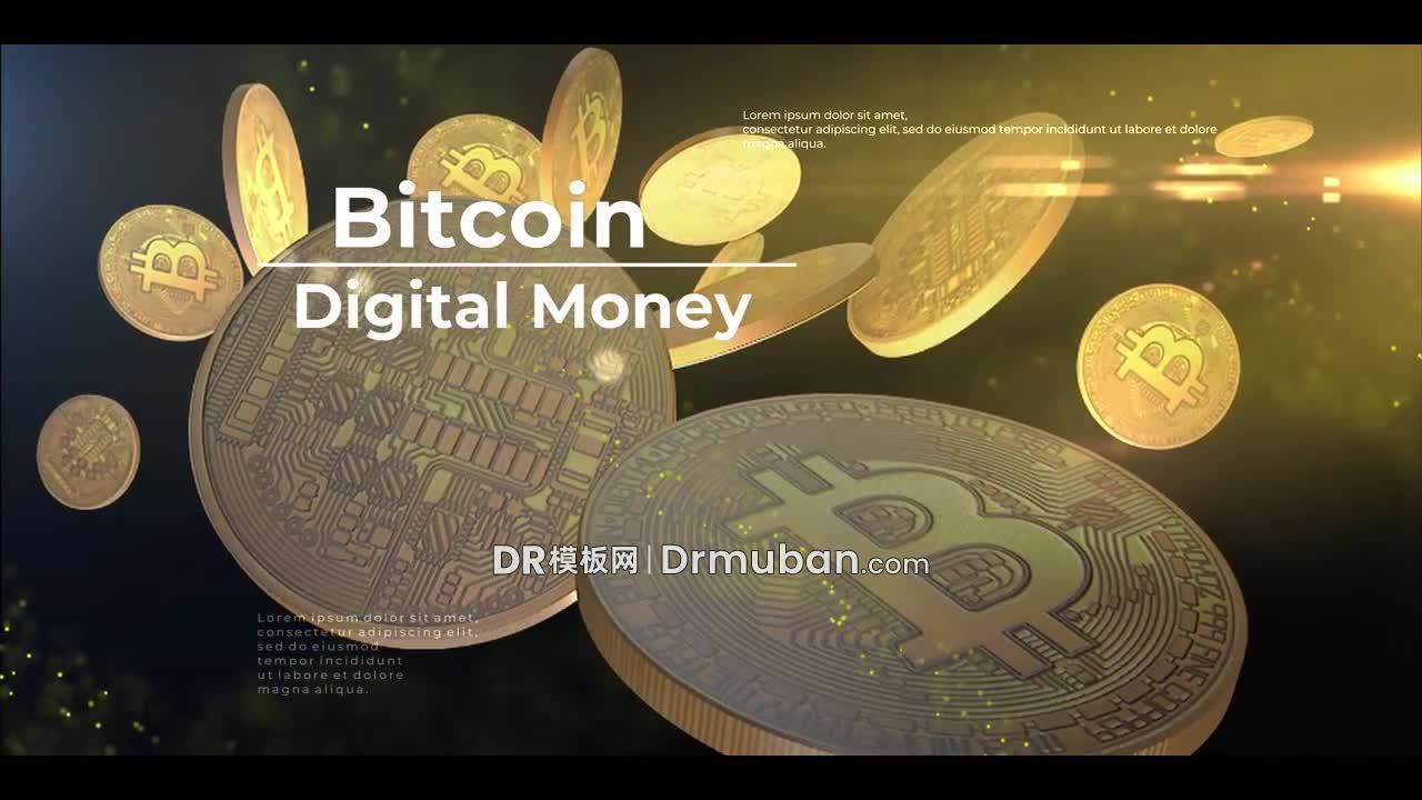 达芬奇模板 创意金币背景投资理财短视频DR模板下载