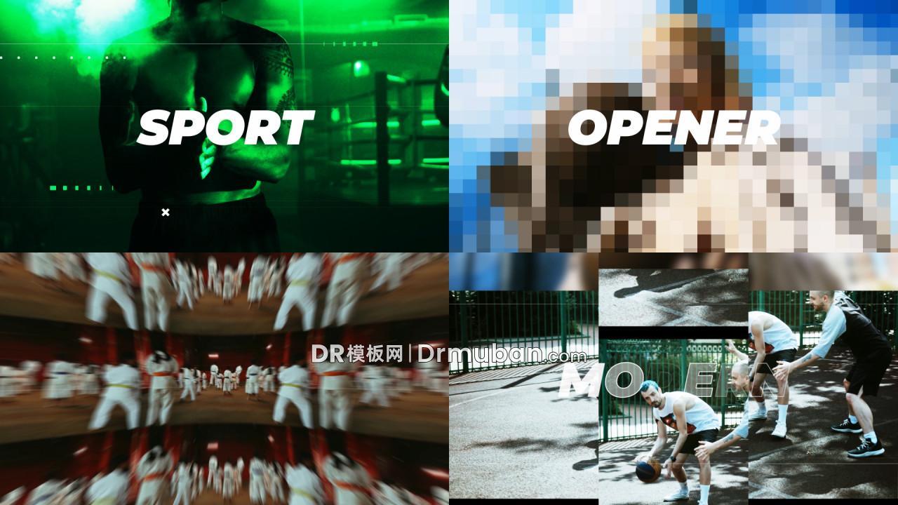 达芬奇模板 运动会比赛介绍预告短视频DR模板下载