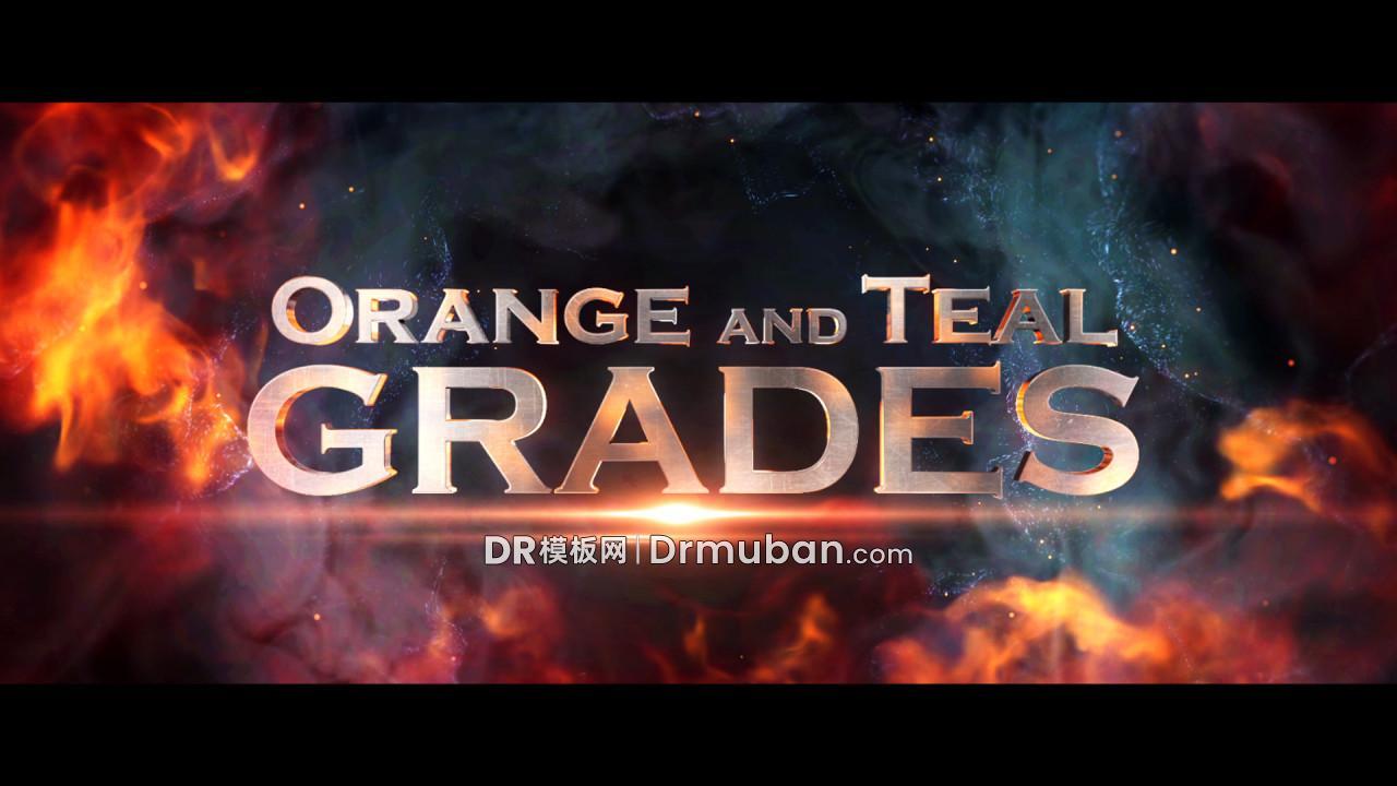 达芬奇模板 80个橙蓝绿色调魔幻电影级DR调色模板下载-DR模板网