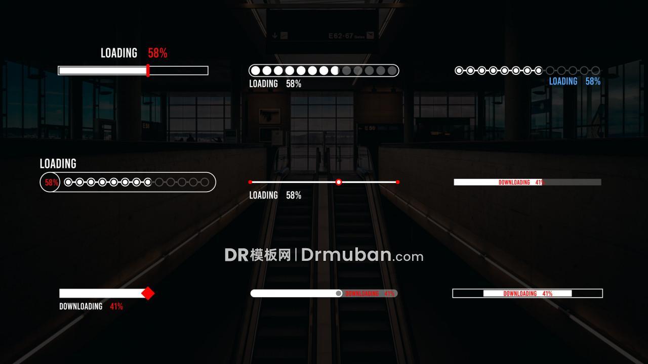 达芬奇预设 创意短视频挑战完成进度条DR预设下载【1】-DR模板网