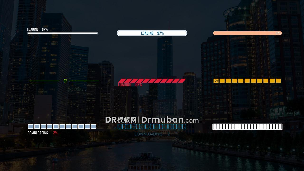 达芬奇预设 创意短视频挑战完成进度条DR预设下载【3】