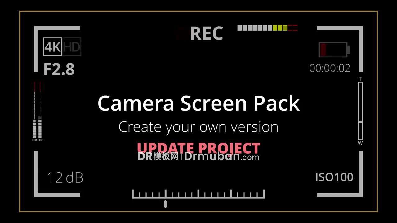 达芬奇预设 45个时尚相机屏幕元素创意短视频DR预设下载-DR模板网