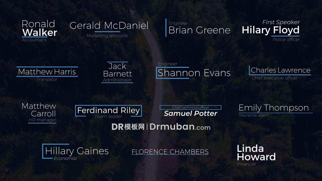 达芬奇预设 15个蓝色动态全屏标题字幕DR预设下载