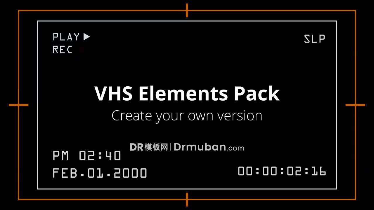 达芬奇预设 VHS复古相机屏幕元素和DR预设下载